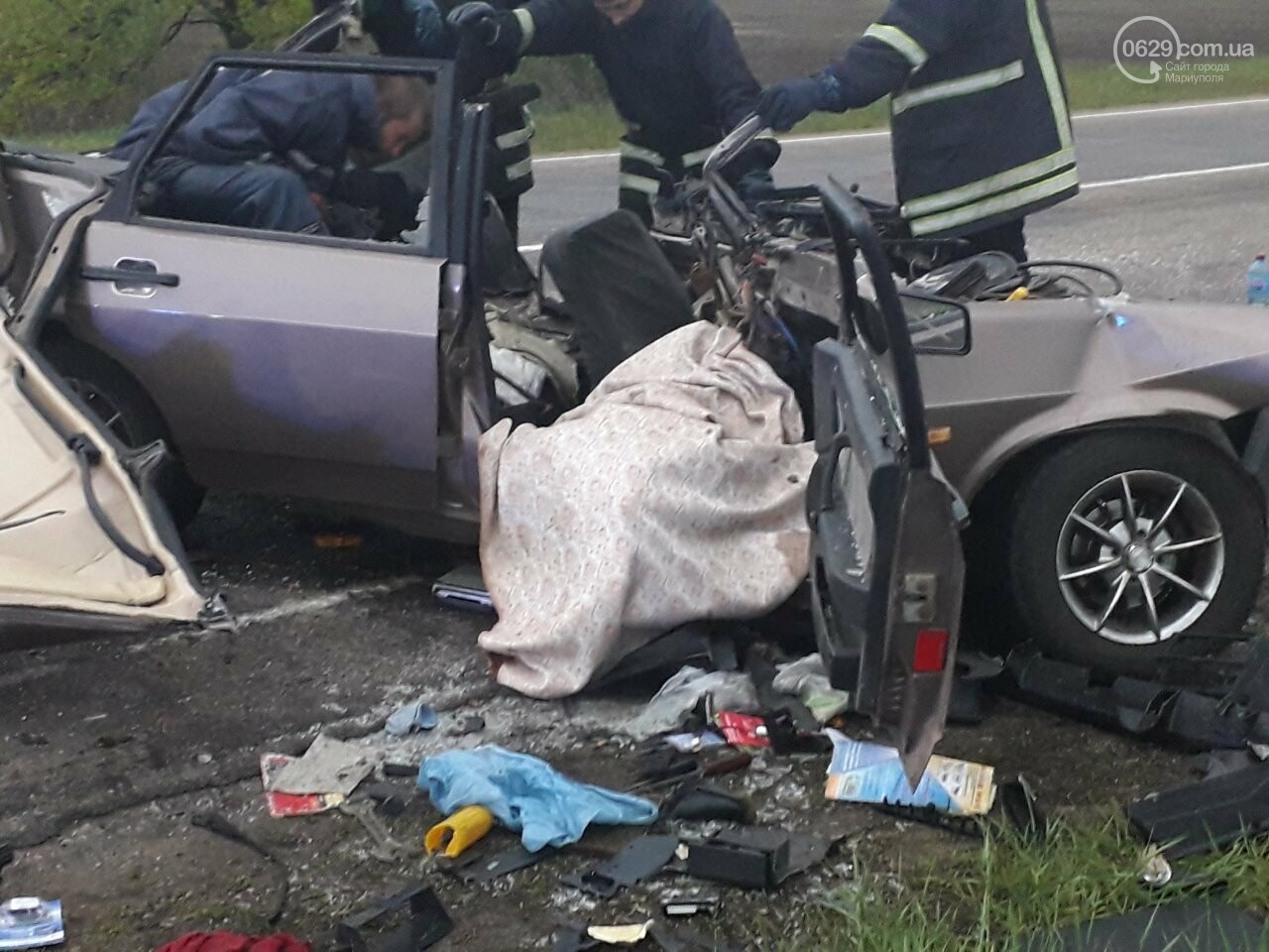 Жуткое ДТП на трассе Мариуполь-Бердянск. Есть погибший, - ФОТО, фото-2