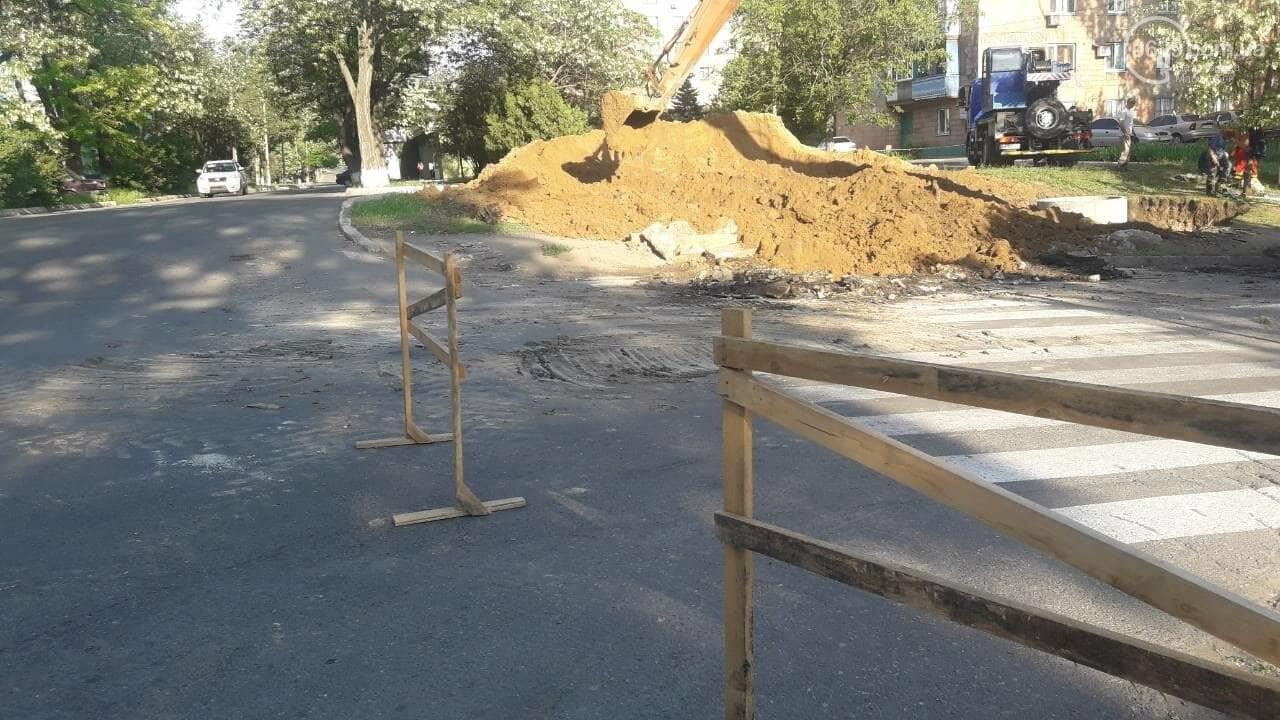 В Мариуполе из-за ремонтных работ перекрыта ул. Карпинского, - Фотофакт, фото-6