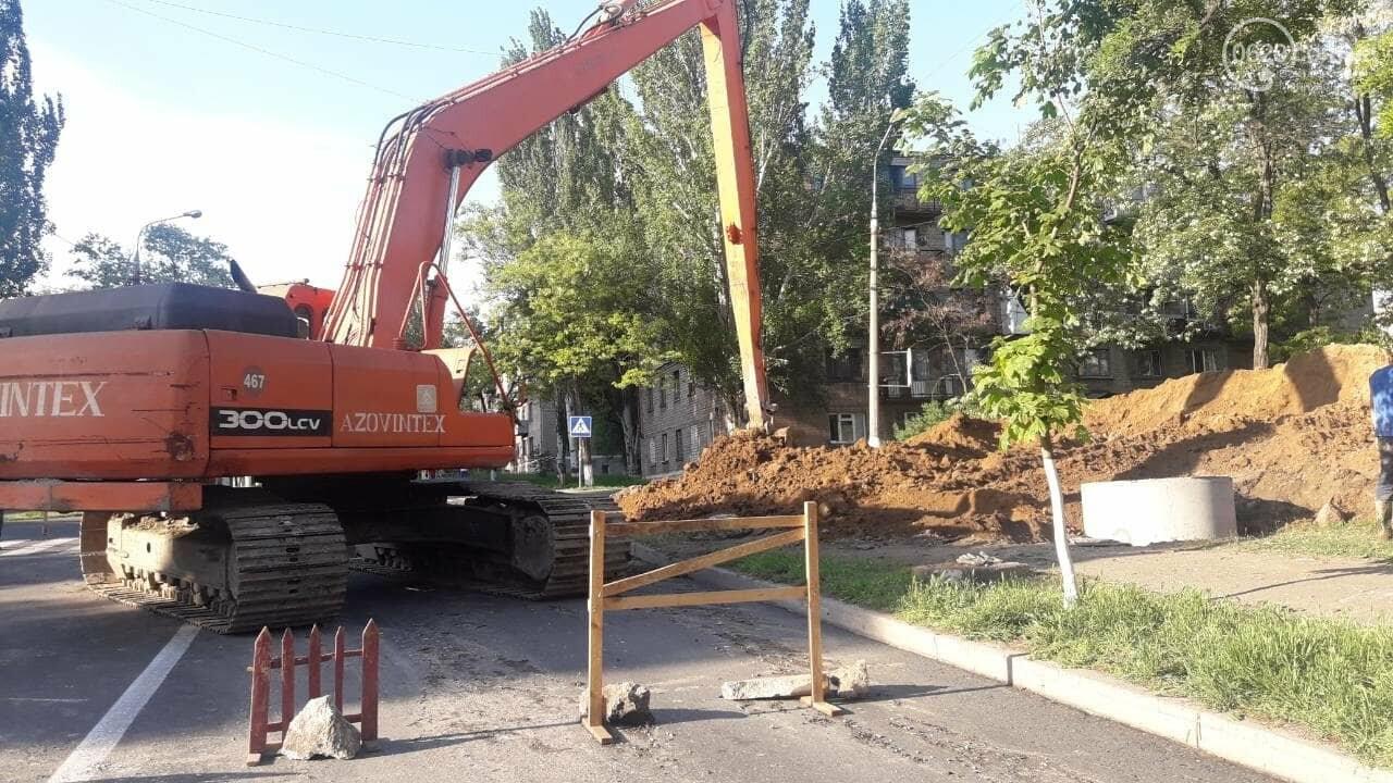 В Мариуполе из-за ремонтных работ перекрыта ул. Карпинского, - Фотофакт, фото-5