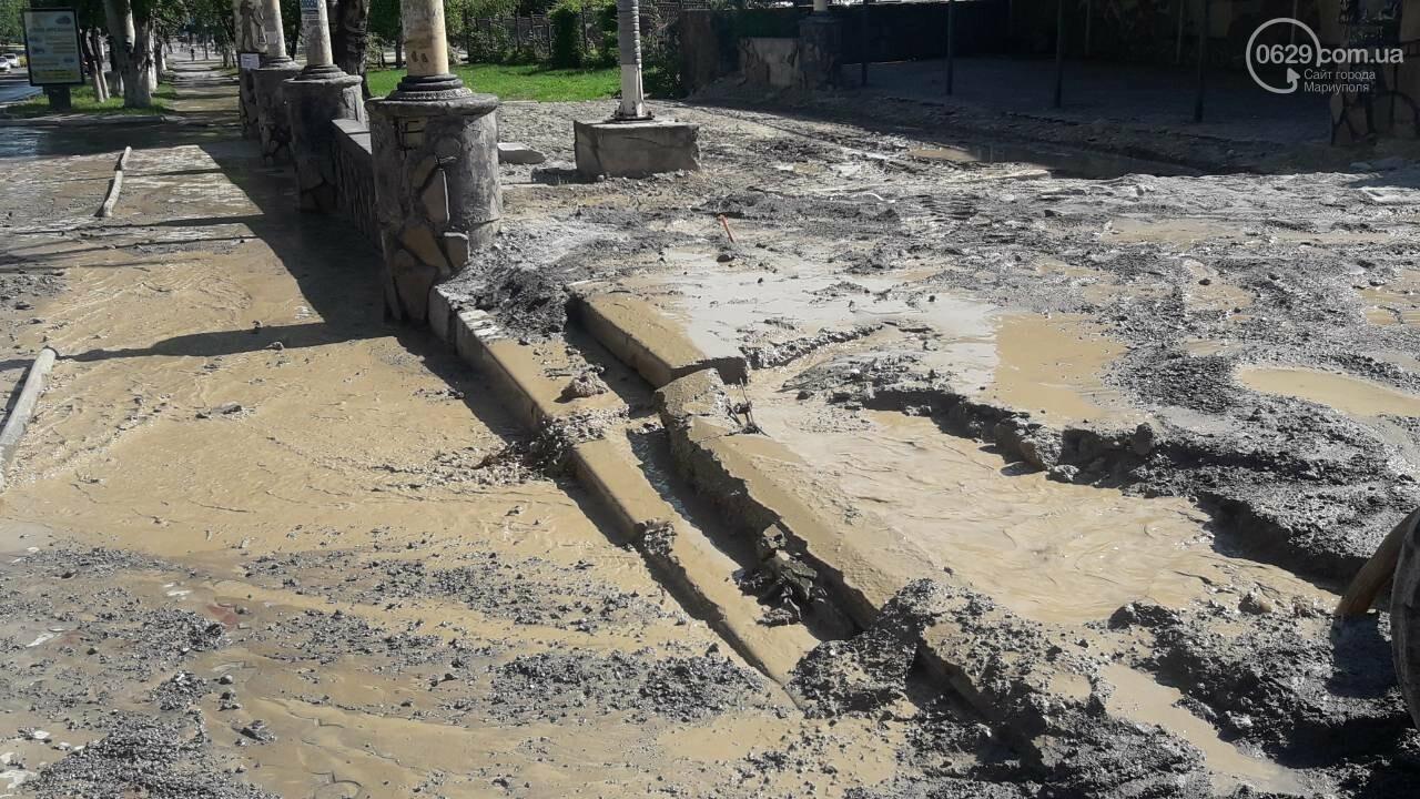 В Мариуполе питьевая вода затопила площадь Кирова, - ФОТО, фото-3