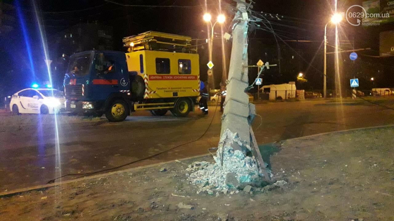 В Мариуполе троллейбус завалил столб на ул. Куприна, - ФОТО, фото-5