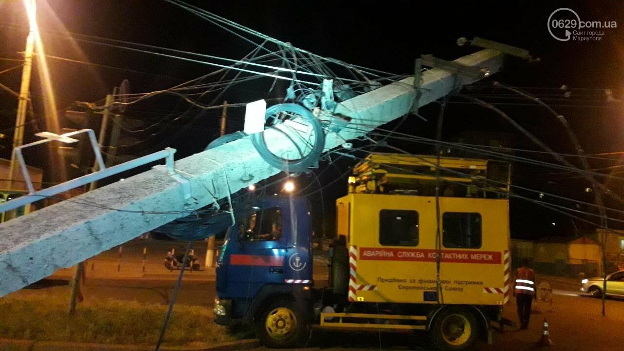 В Мариуполе троллейбус завалил столб на ул. Куприна, - ФОТО, фото-9