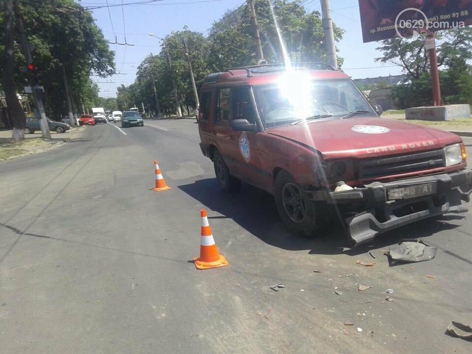 """В Мариуполе  на оживленном перекрестке столкнулись """"Мazda""""  и  """"Land Rover"""" , - ФОТО, фото-3"""