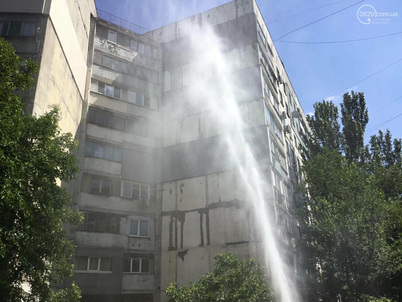 В Мариуполе бъет фонтан питьевой воды, высотой в 5 этажей, - ФОТО, ВИДЕО, фото-7