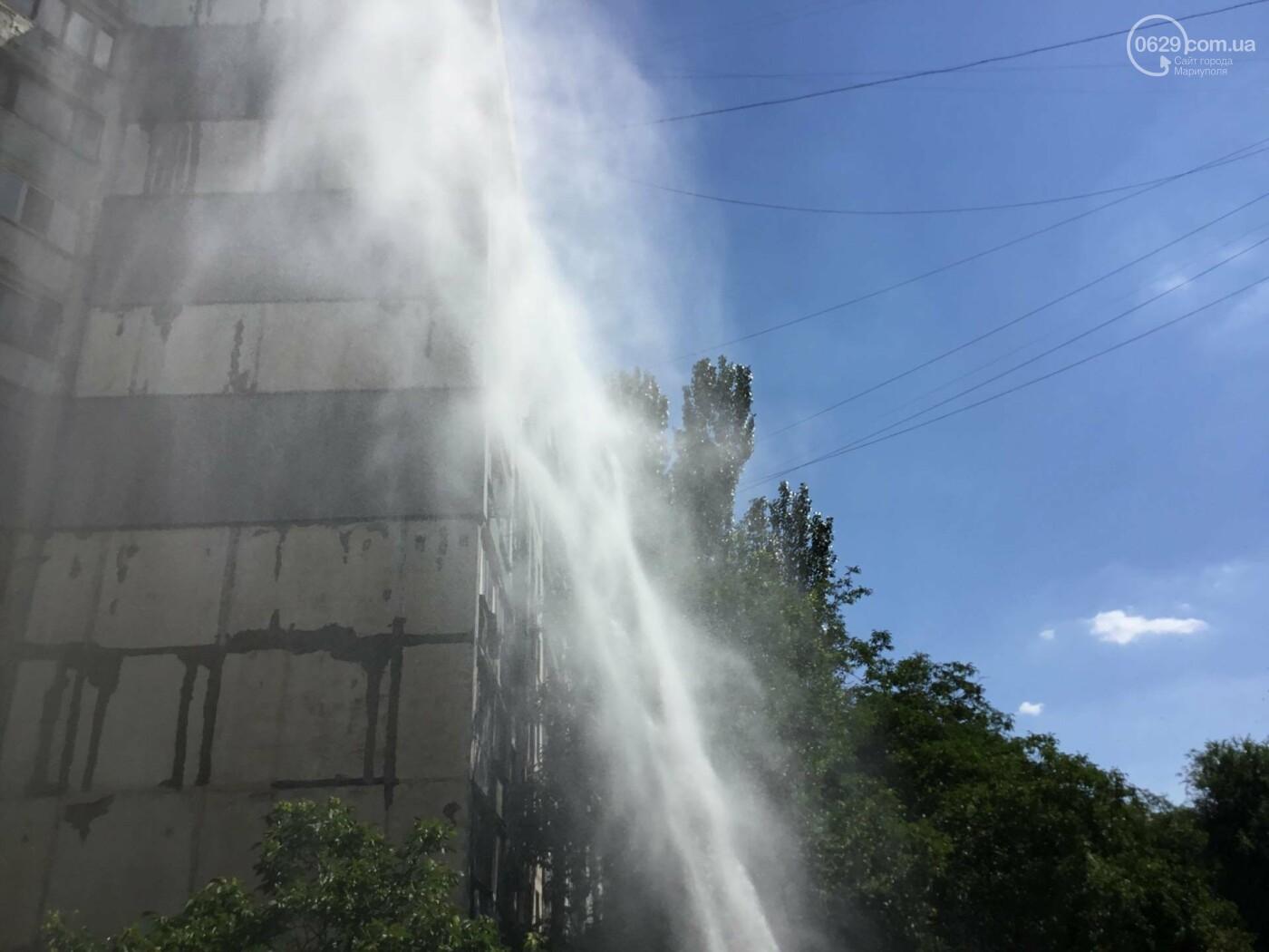 В Мариуполе бъет фонтан питьевой воды, высотой в 5 этажей, - ФОТО, ВИДЕО, фото-1