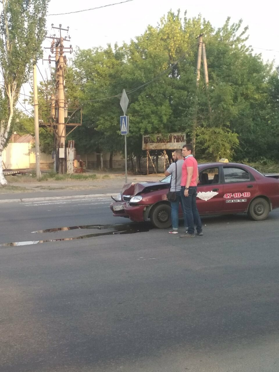 В Мариуполе иномарка столкнулась с такси, - ФОТО, фото-2