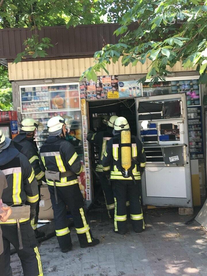 В центре Мариуполя горел сигаретный  киоск, - ФОТОФАКТ+ВИДЕО, фото-2
