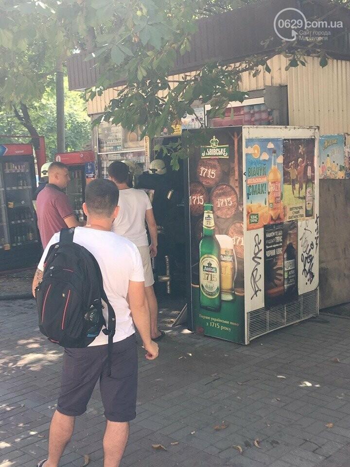 В центре Мариуполя горел сигаретный  киоск, - ФОТОФАКТ+ВИДЕО, фото-3