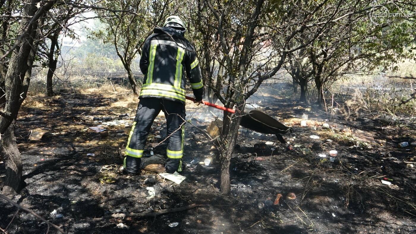 В Мариуполе за автостанцией выгорел гектар сухой травы, - ФОТО, ВИДЕО, фото-18