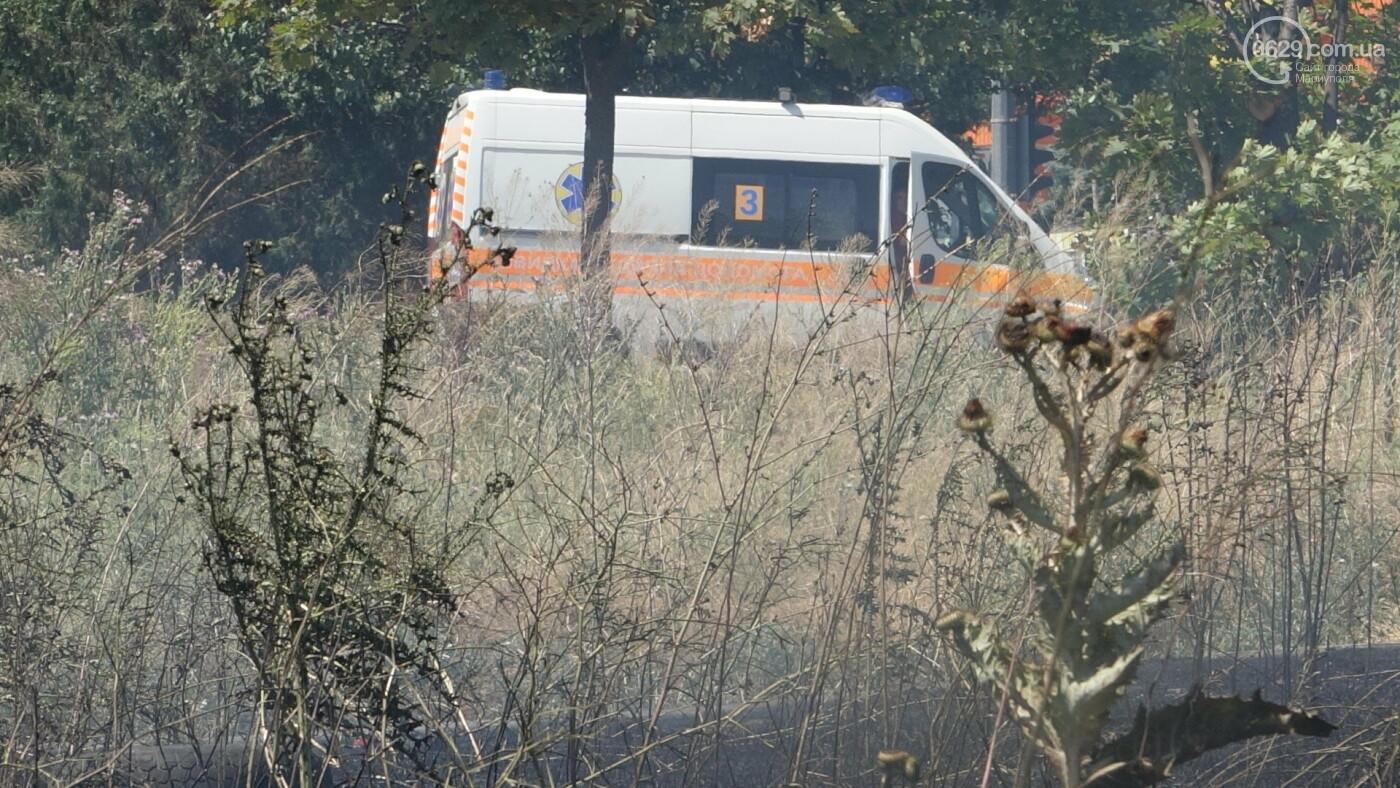 В Мариуполе за автостанцией выгорел гектар сухой травы, - ФОТО, ВИДЕО, фото-15