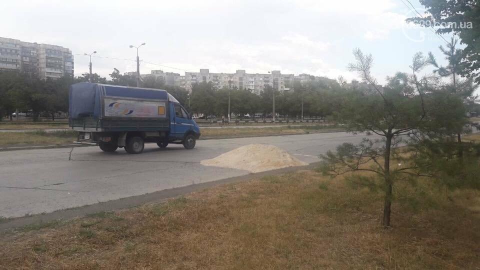 В Мариуполе на бульваре Шевченко куча доменного шлака  мешает проезду, - ФОТОФАКТ, фото-5