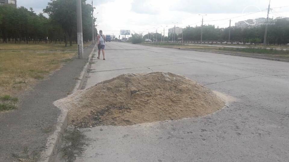 В Мариуполе на бульваре Шевченко куча доменного шлака  мешает проезду, - ФОТОФАКТ, фото-3