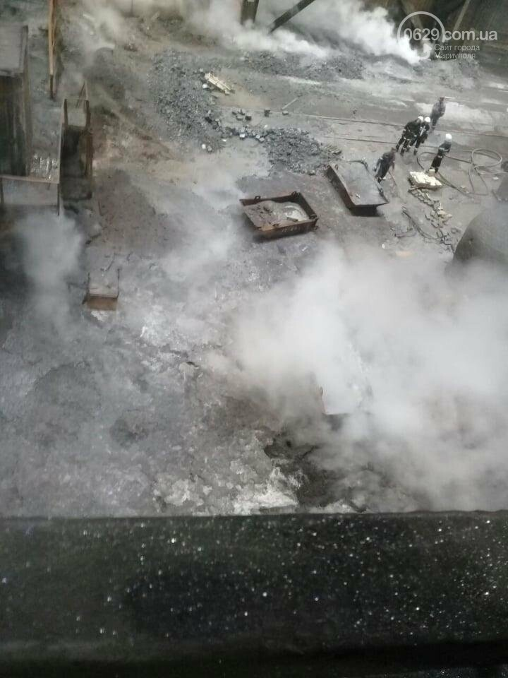 На мариупольском меткомбинате пролились в цеху тысячи тонн чугуна,- ФОТО, ВИДЕО, фото-6
