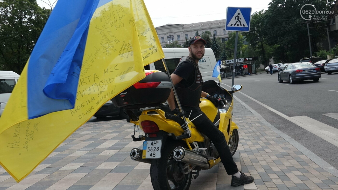 В Мариуполе встречали участников автопробега, объединившего Украину,- ФОТО, фото-5