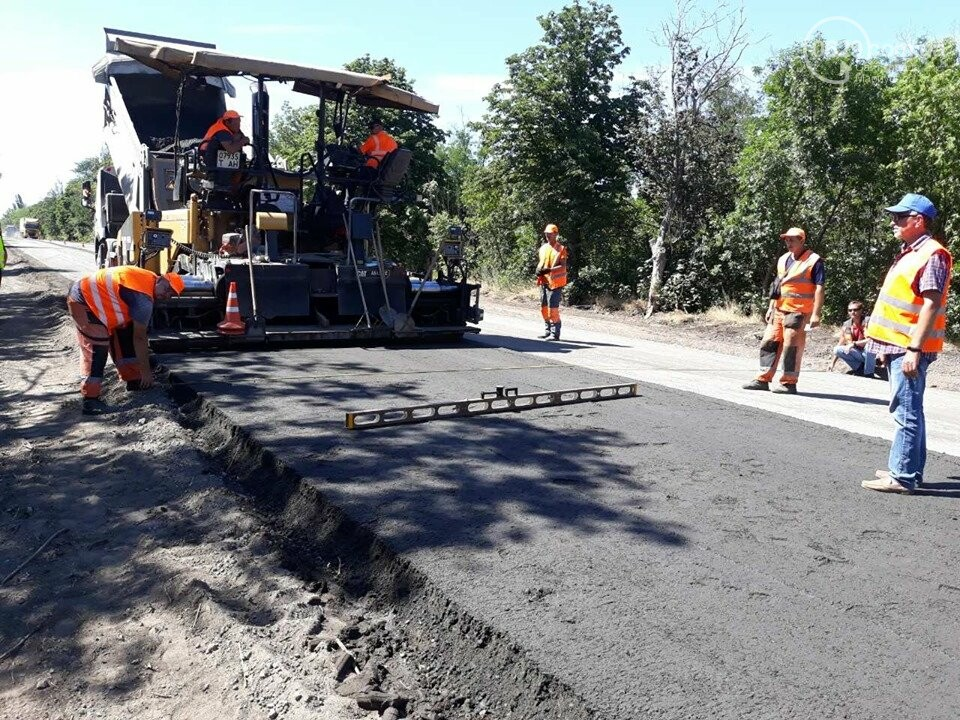 Продолжается ремонт трассы Запорожье - Мариуполь, - ФОТО, фото-4