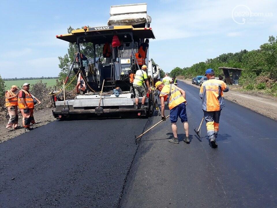 Продолжается ремонт трассы Запорожье - Мариуполь, - ФОТО, фото-1