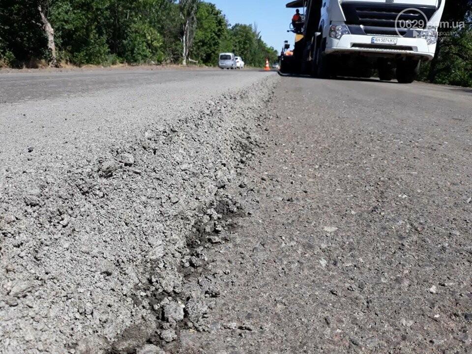 Продолжается ремонт трассы Запорожье - Мариуполь, - ФОТО, фото-3