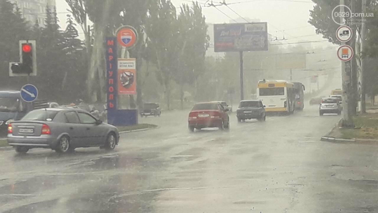 На Мариуполь обрушился ливень, - ФОТО, фото-2
