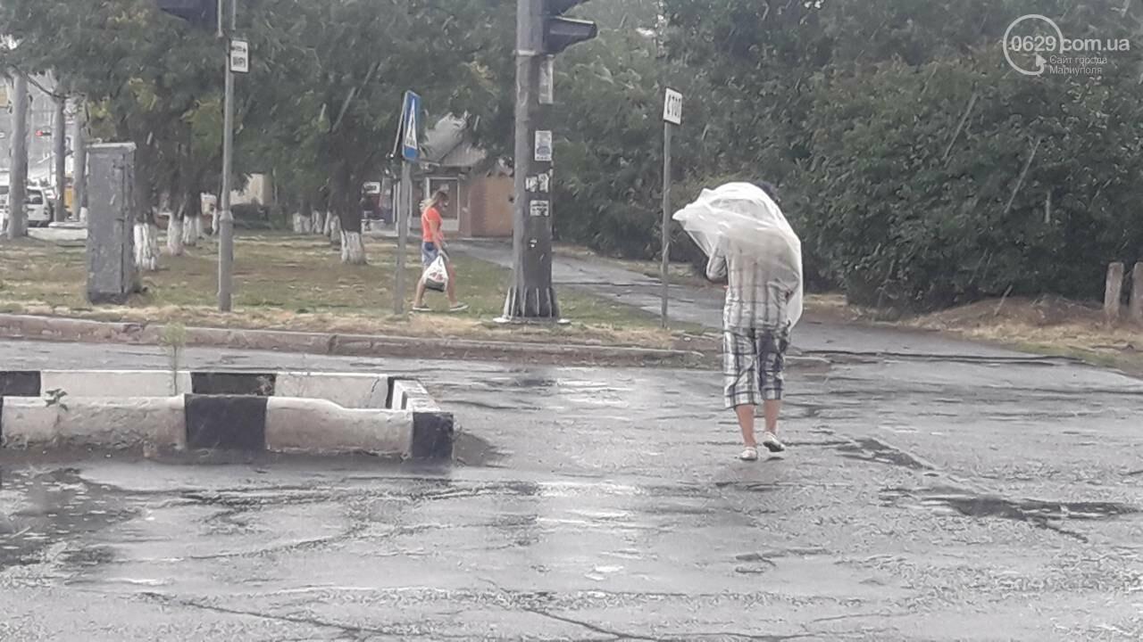 На Мариуполь обрушился ливень, - ФОТО, фото-7