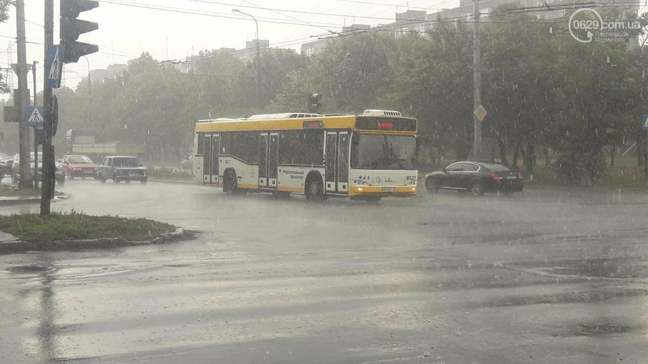 На Мариуполь обрушился ливень, - ФОТО, фото-3