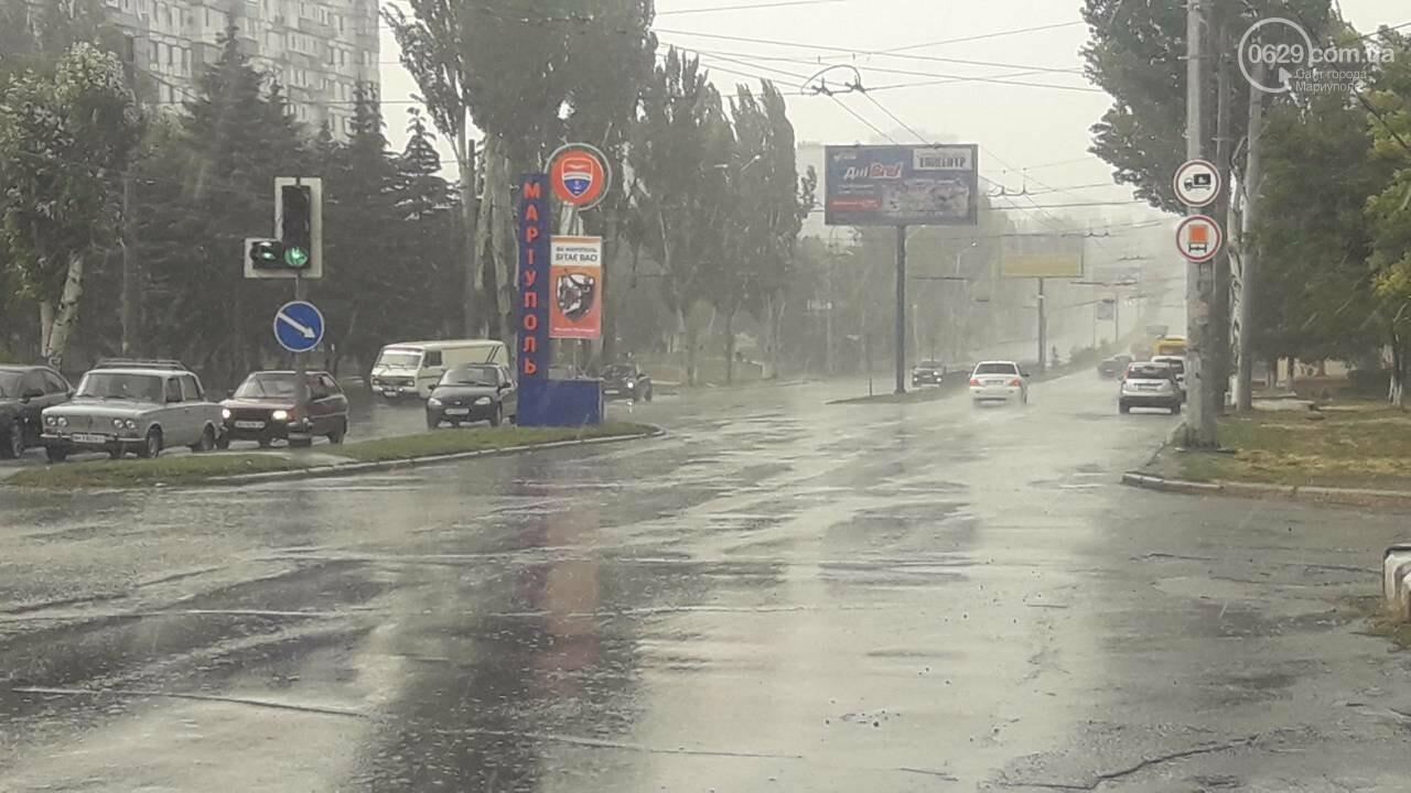 На Мариуполь обрушился ливень, - ФОТО, фото-1