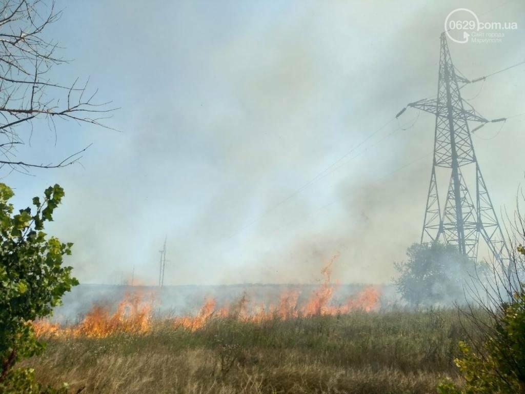 Под Мариуполем горел оккупированный ветропарк, - ФОТО, фото-2