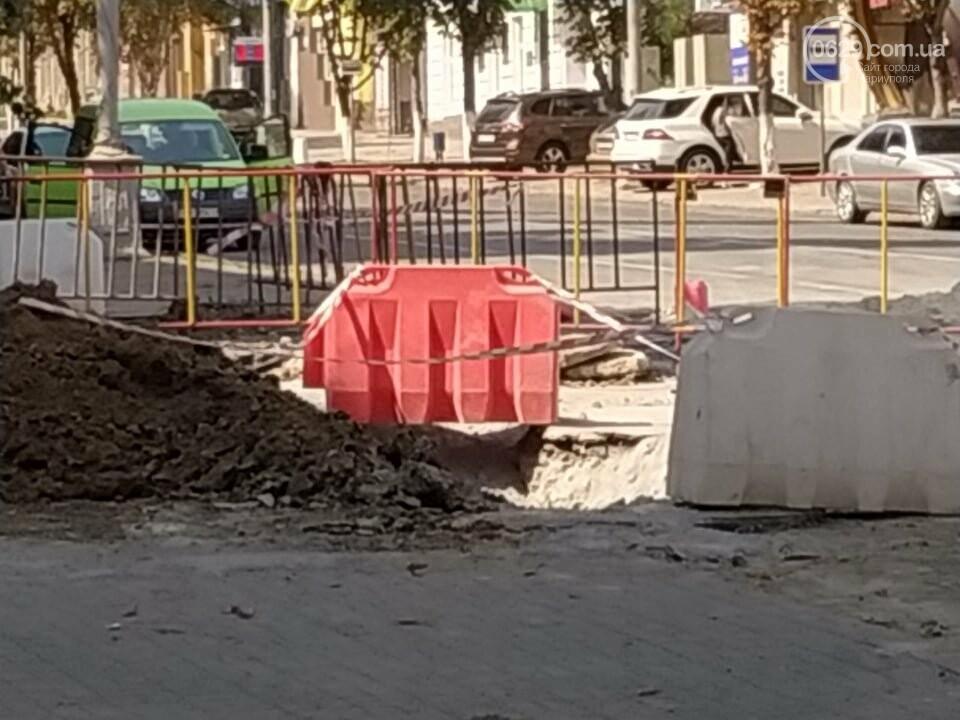 В Мариуполе из-за ремонта проспекта Мира жители не могут заехать в собственный двор, фото-1
