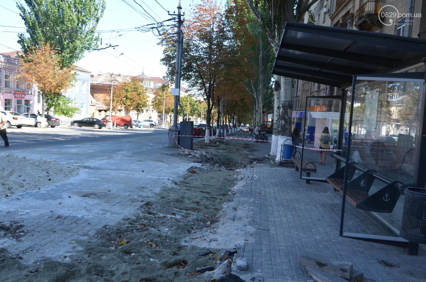 Перекопанный пр. Мира: в Мариуполе капитально ремонтируют центральную дорогу, - ФОТОРЕПОРТАЖ, фото-28