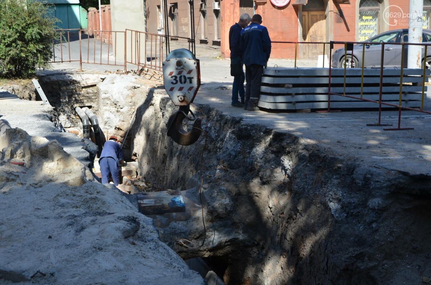 Перекопанный пр. Мира: в Мариуполе капитально ремонтируют центральную дорогу, - ФОТОРЕПОРТАЖ, фото-11