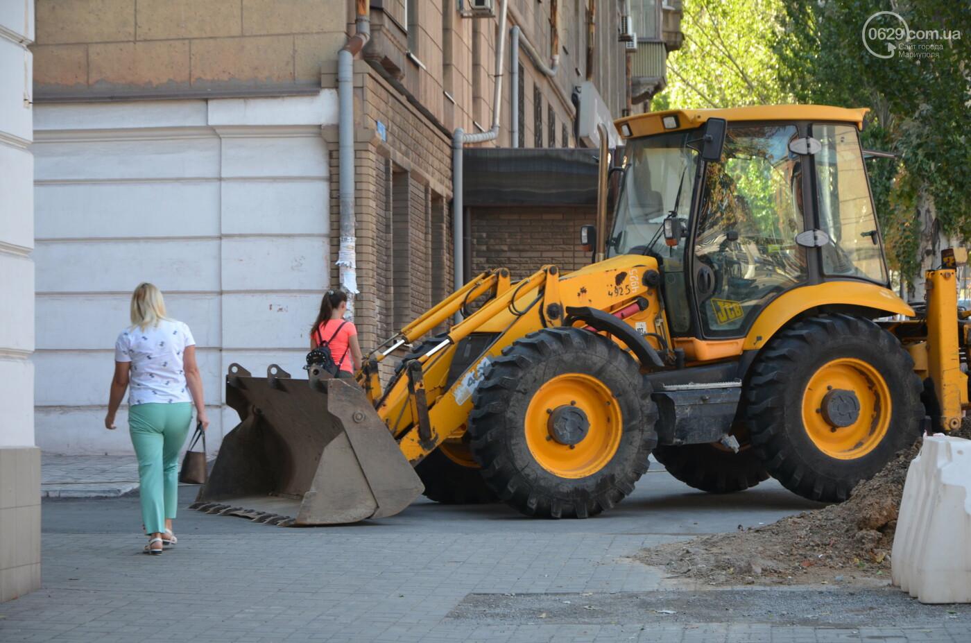 Перекопанный пр. Мира: в Мариуполе капитально ремонтируют центральную дорогу, - ФОТОРЕПОРТАЖ, фото-2