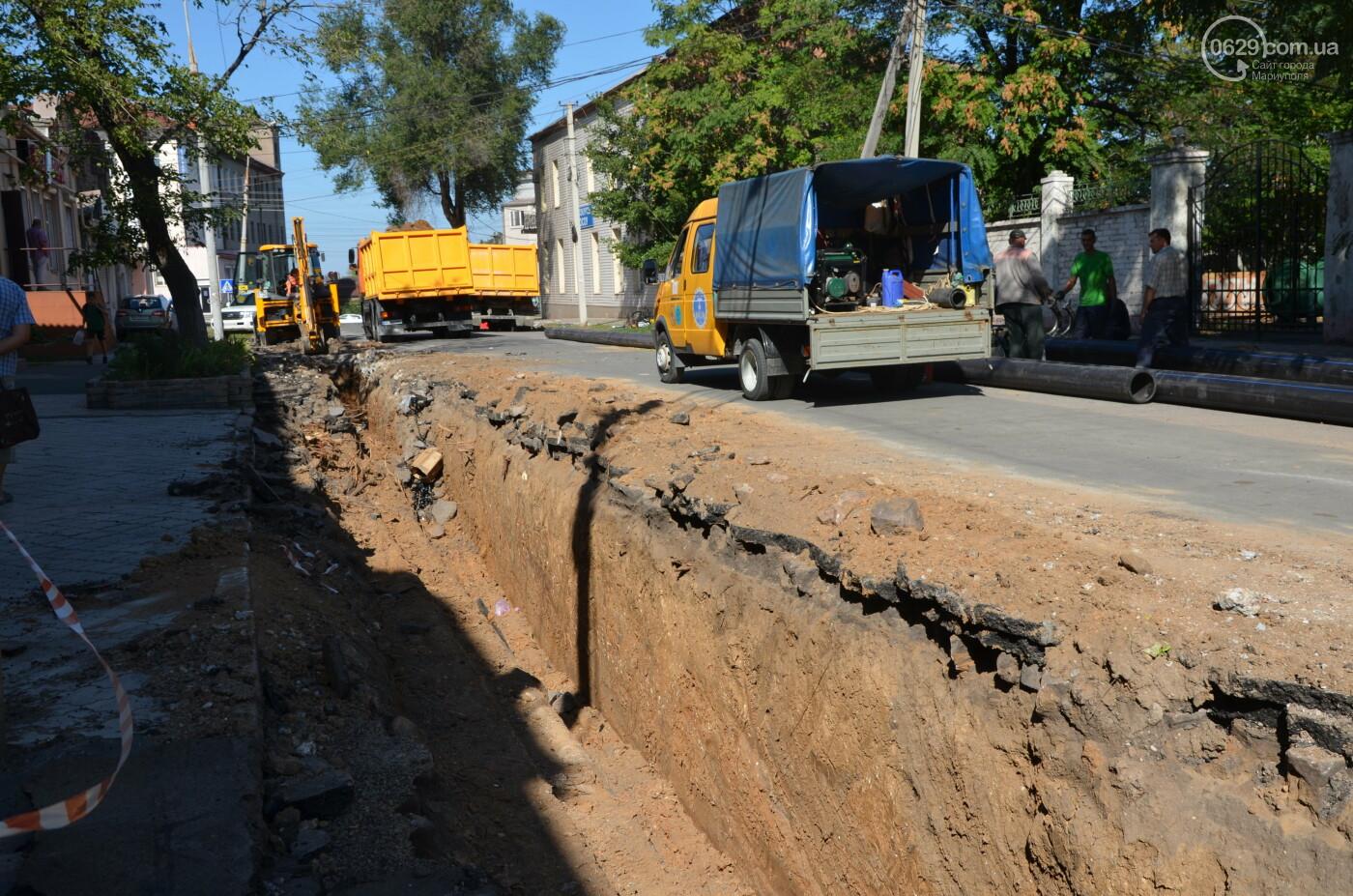 Перекопанный пр. Мира: в Мариуполе капитально ремонтируют центральную дорогу, - ФОТОРЕПОРТАЖ, фото-27