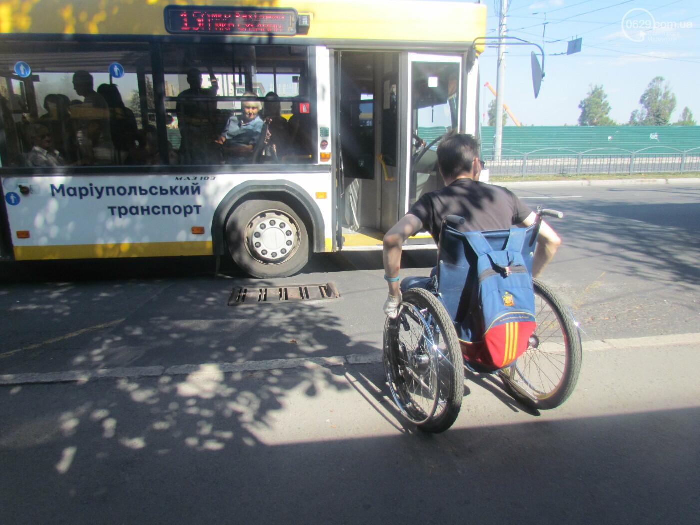 Колясочная инспекция. Мариуполец с инвалидностью проверил удобство городского транспорта, - ФОТОРЕПОРТАЖ, фото-1