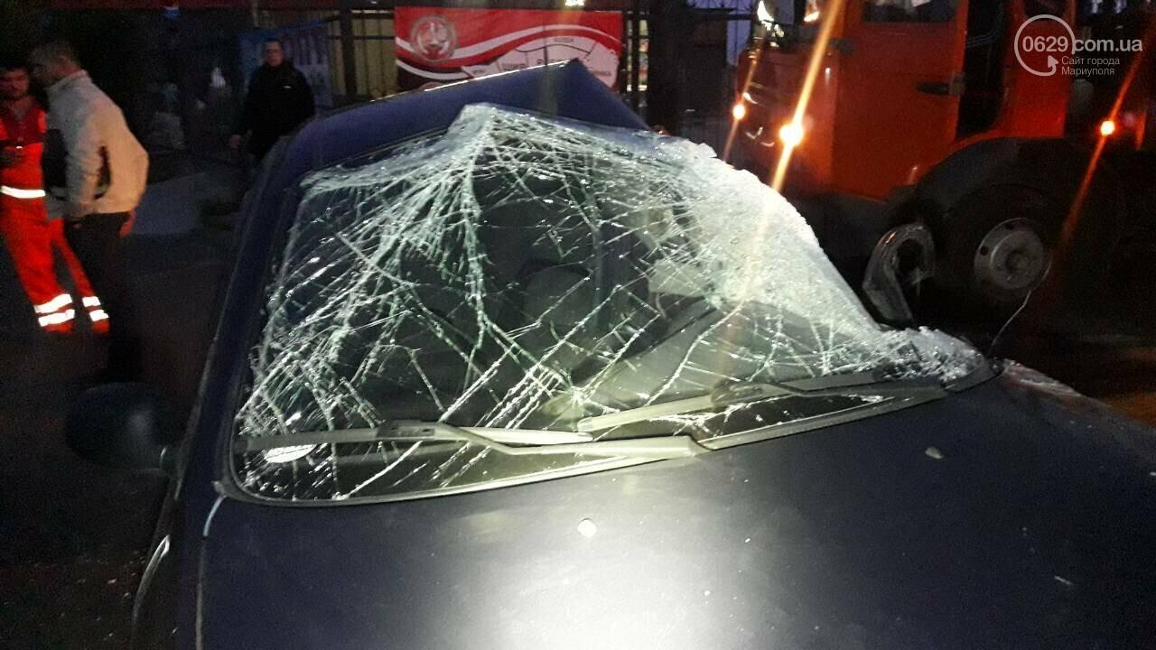На выезде из Мариуполя Daewoo столкнулся с длинномером, - ФОТО, фото-3