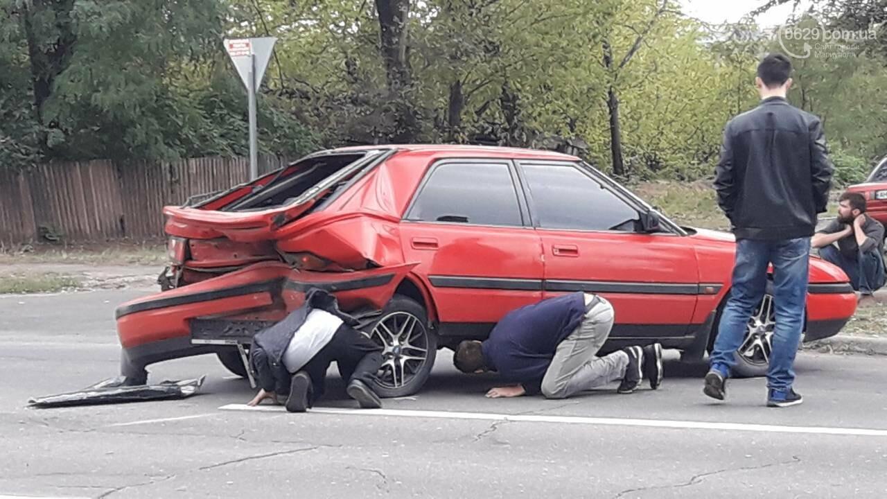 В Кальмиусском районе Daewoo догнал Mazda, - ФОТО, фото-5