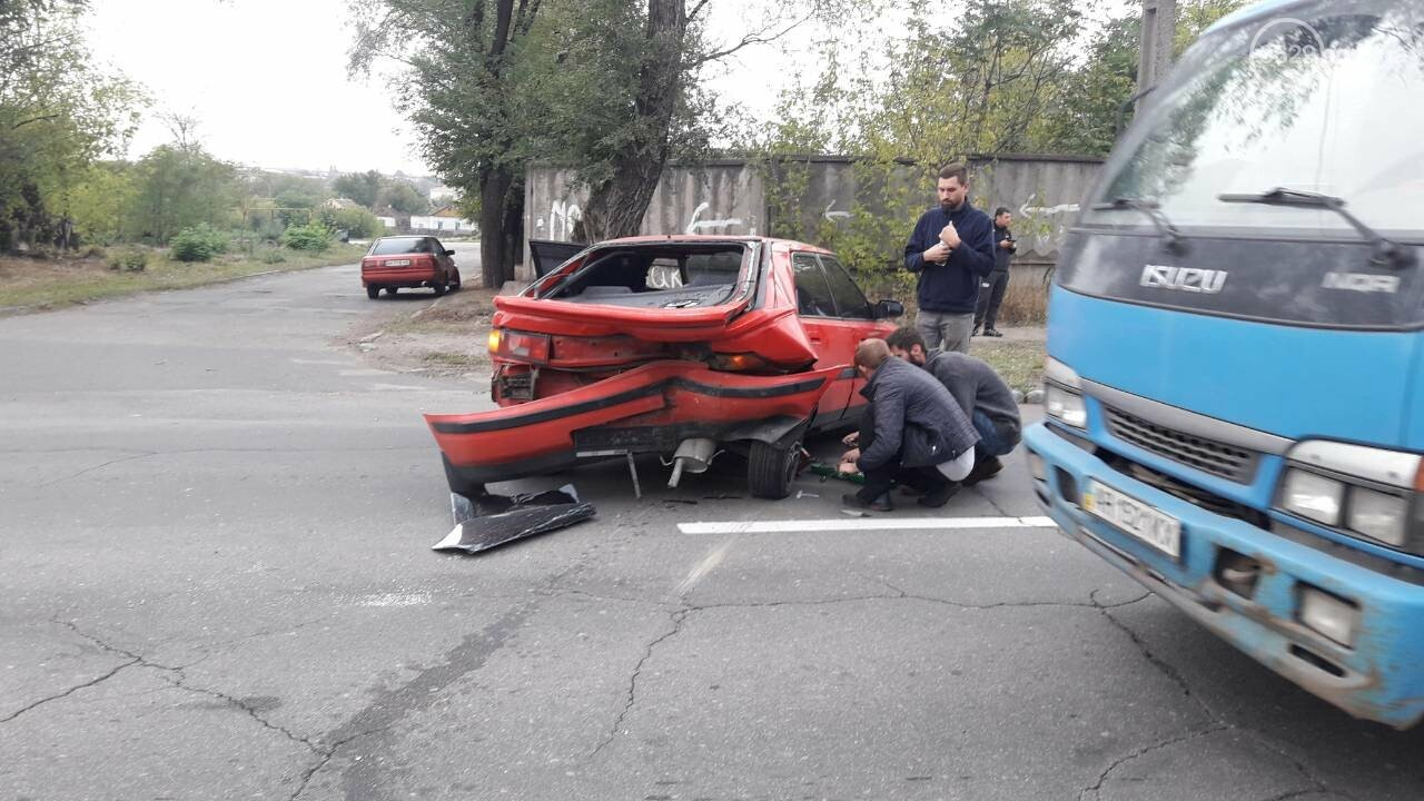 В Кальмиусском районе Daewoo догнал Mazda, - ФОТО, фото-4