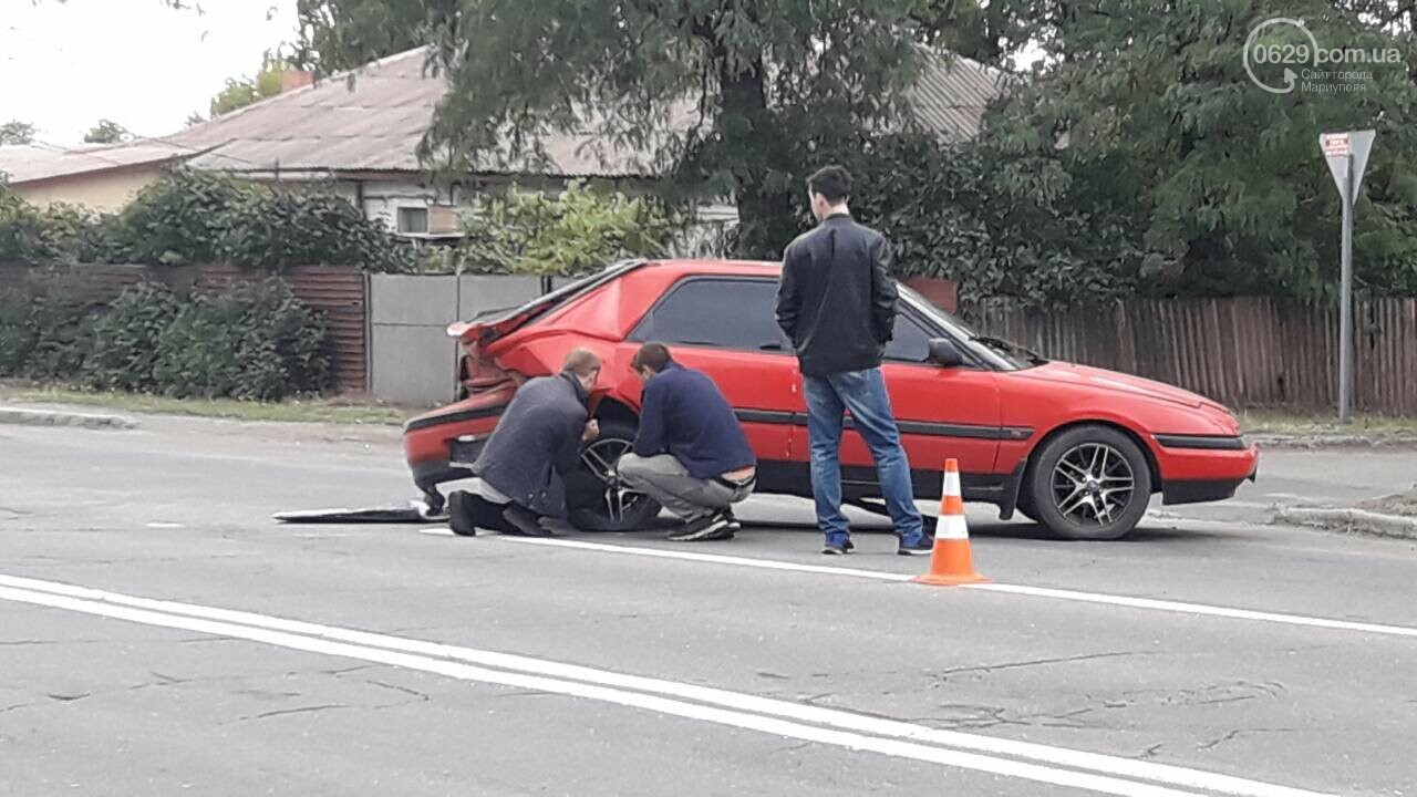В Кальмиусском районе Daewoo догнал Mazda, - ФОТО, фото-7