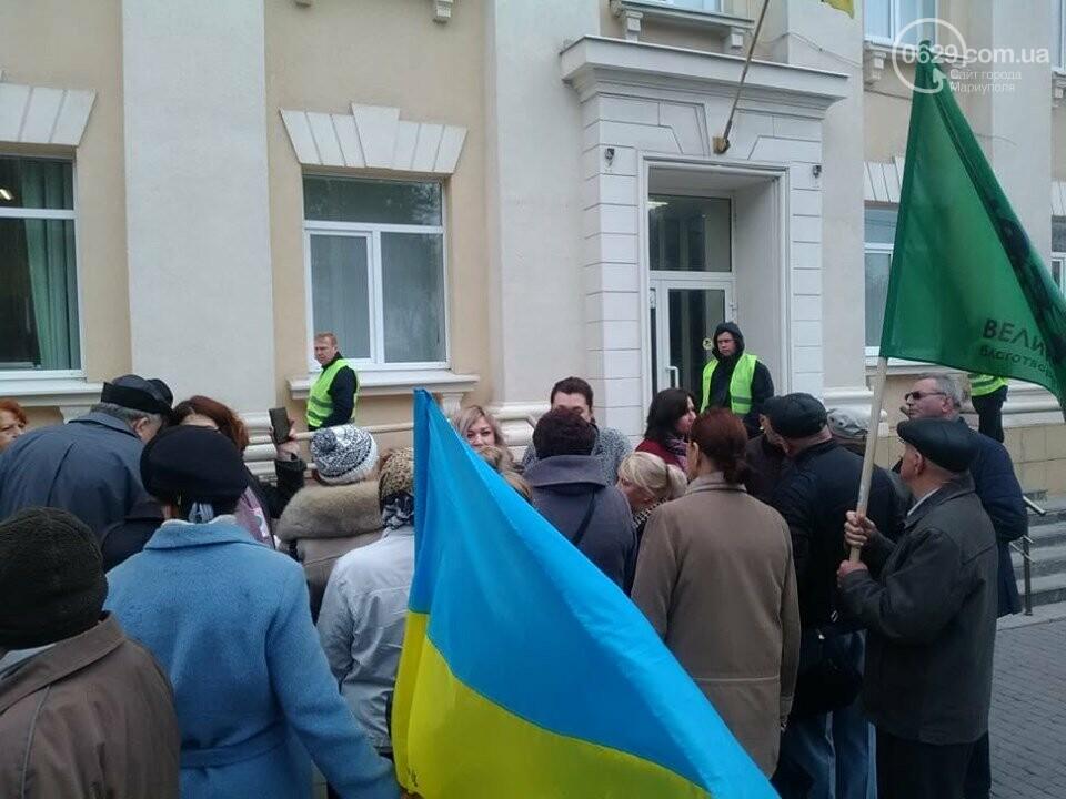 В Мариуполе под стенами мэрии митинговали против реорганизации 5 горбольницы, фото-5