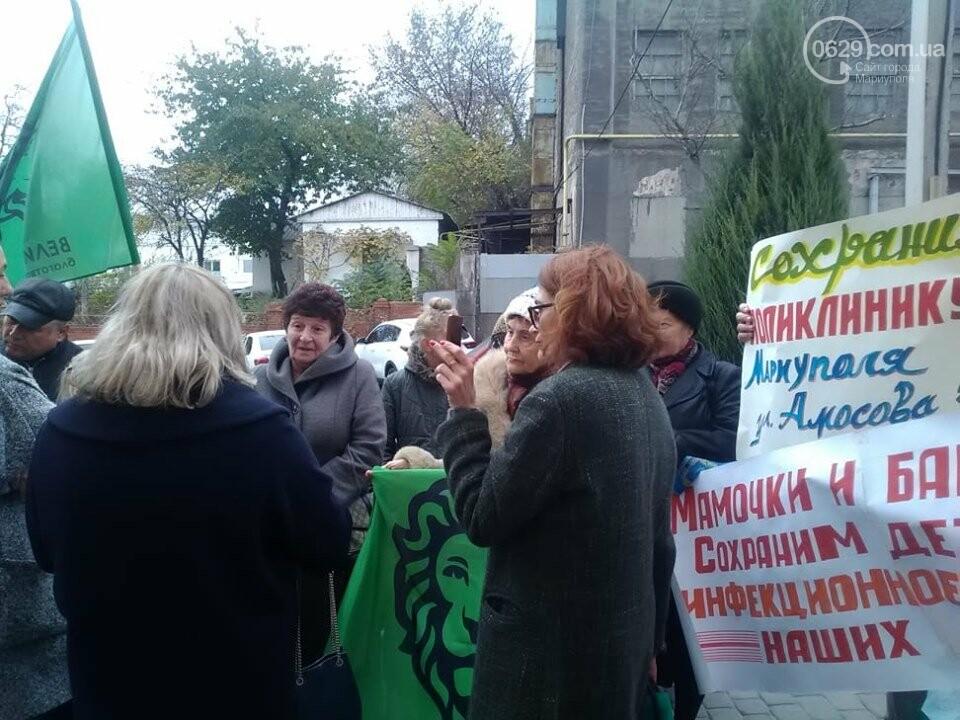 В Мариуполе под стенами мэрии митинговали против реорганизации 5 горбольницы, фото-6