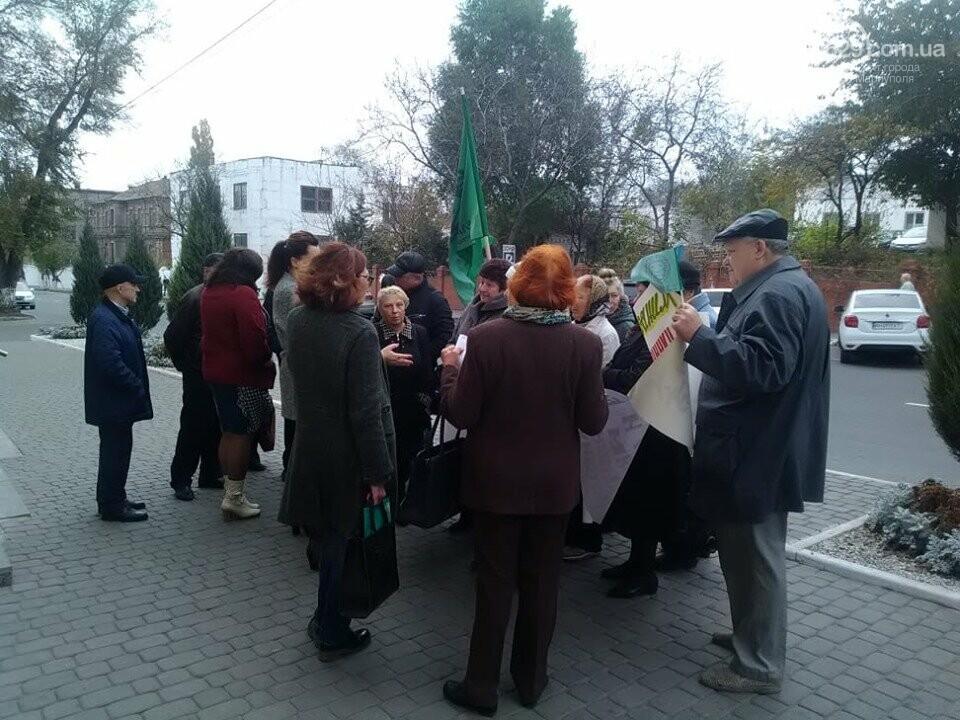 В Мариуполе под стенами мэрии митинговали против реорганизации 5 горбольницы, фото-7