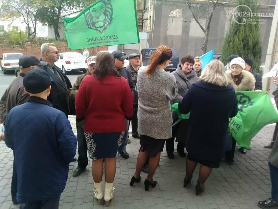 В Мариуполе под стенами мэрии митинговали против реорганизации 5 горбольницы, фото-8