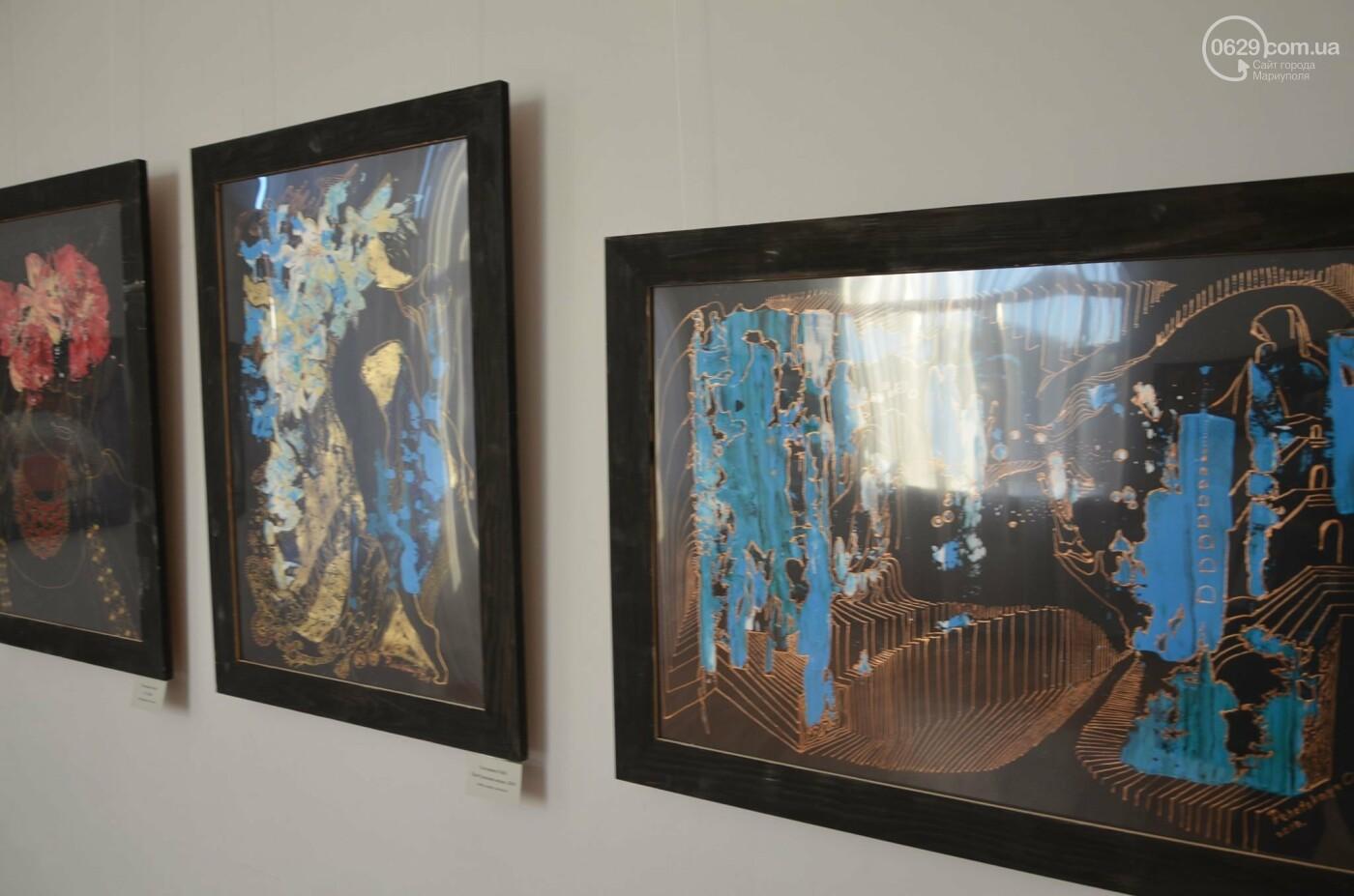 Золото на черном. Мариупольская  художница  Оксана Гнатышин  представила картины в авангардном стиле,-   ФОТО, фото-5