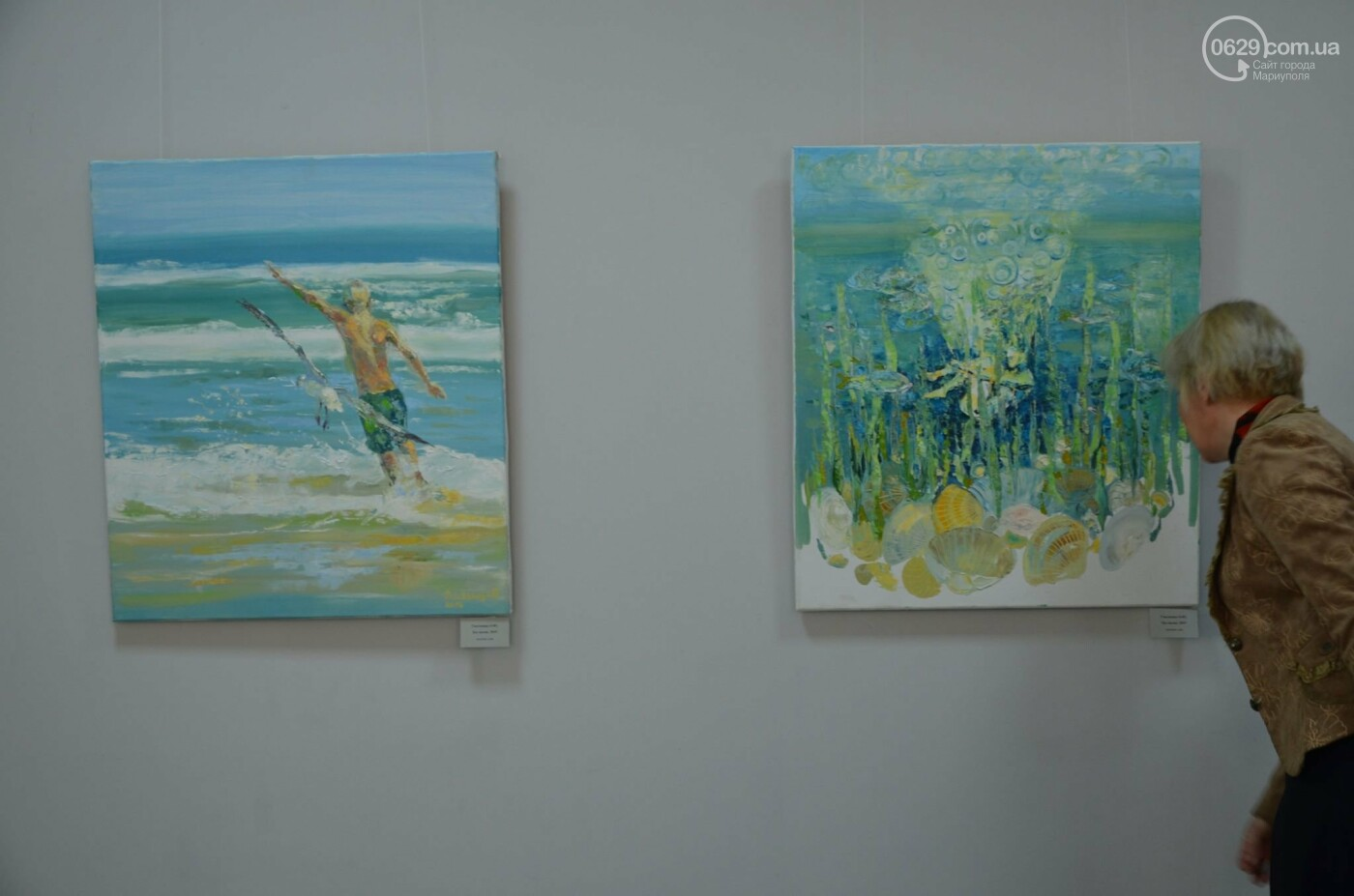 Золото на черном. Мариупольская  художница  Оксана Гнатышин  представила картины в авангардном стиле,-   ФОТО, фото-3