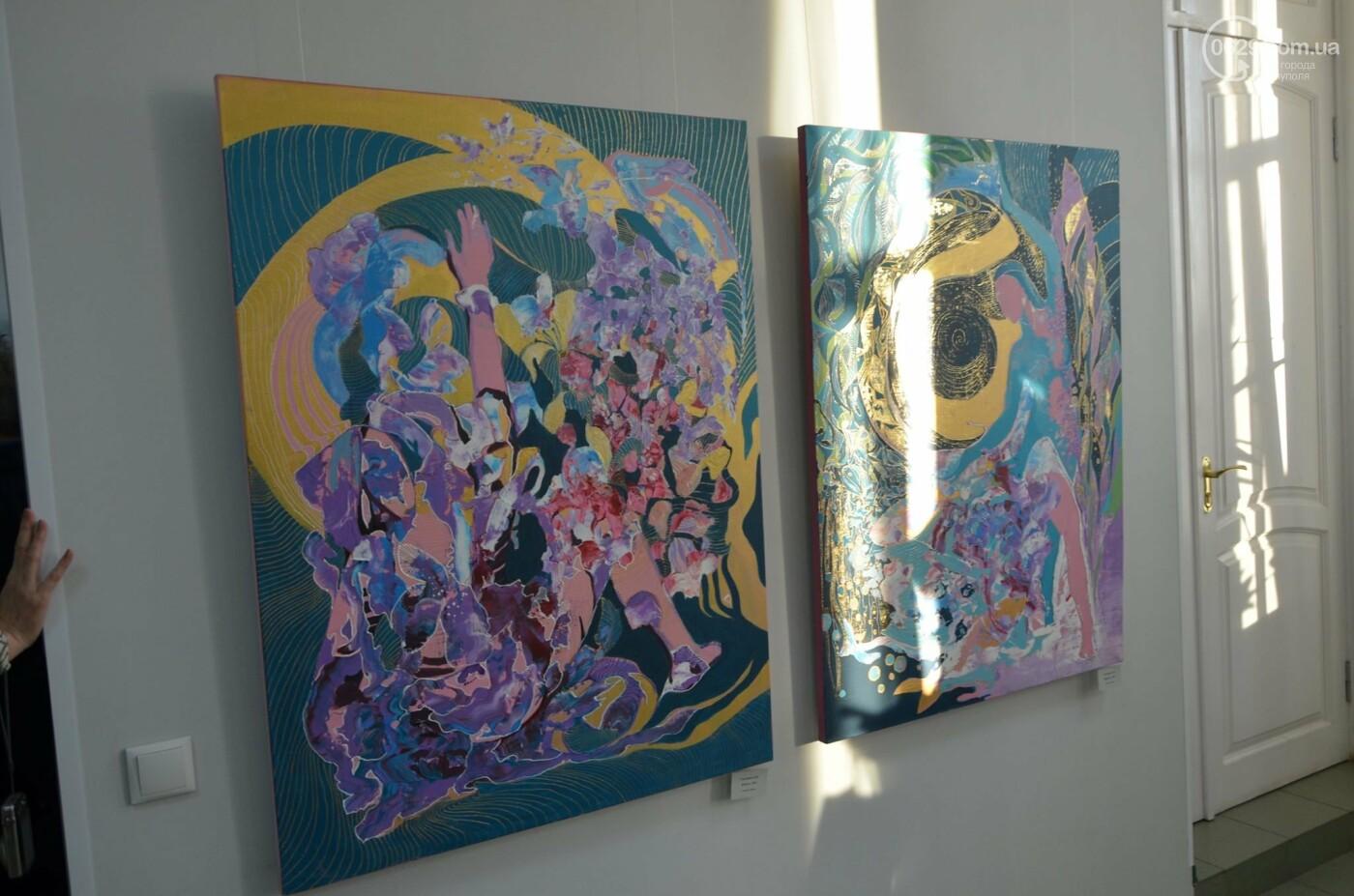 Золото на черном. Мариупольская  художница  Оксана Гнатышин  представила картины в авангардном стиле,-   ФОТО, фото-9