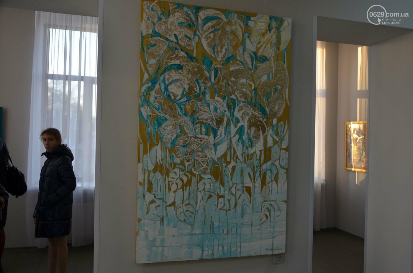 Золото на черном. Мариупольская  художница  Оксана Гнатышин  представила картины в авангардном стиле,-   ФОТО, фото-12