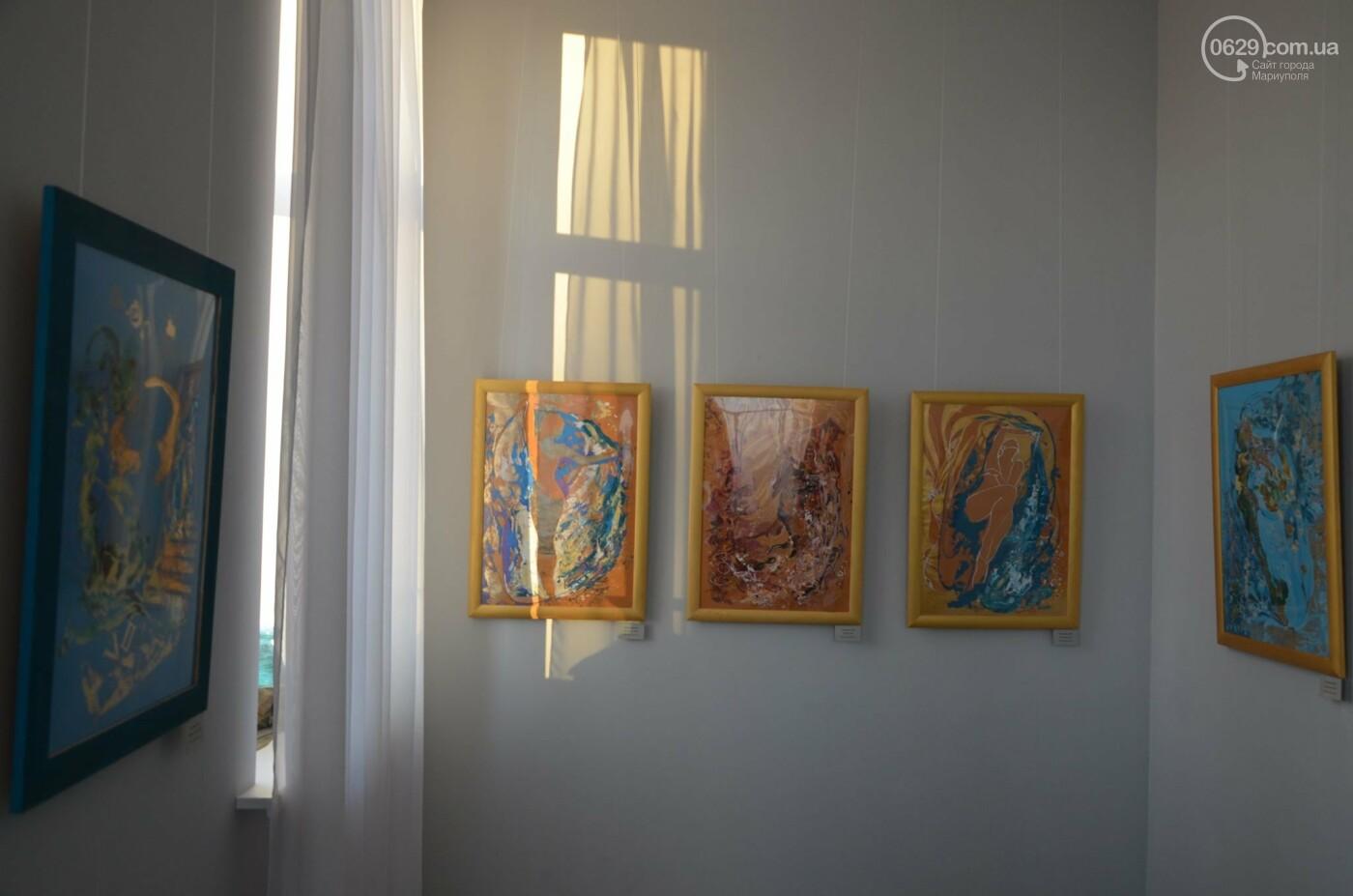 Золото на черном. Мариупольская  художница  Оксана Гнатышин  представила картины в авангардном стиле,-   ФОТО, фото-11
