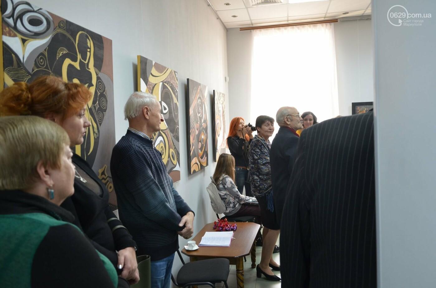 Золото на черном. Мариупольская  художница  Оксана Гнатышин  представила картины в авангардном стиле,-   ФОТО, фото-7