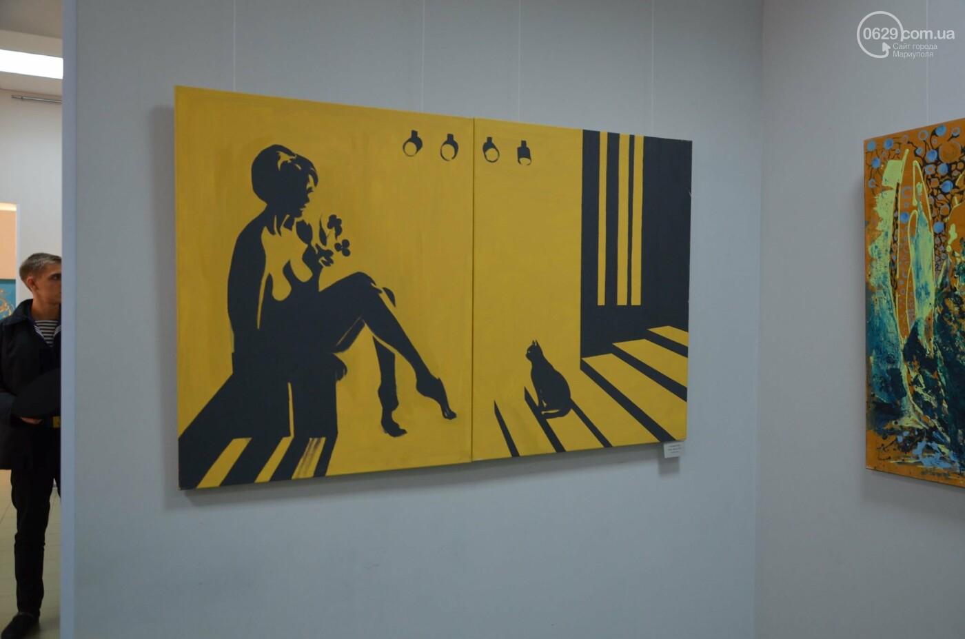 Золото на черном. Мариупольская  художница  Оксана Гнатышин  представила картины в авангардном стиле,-   ФОТО, фото-4