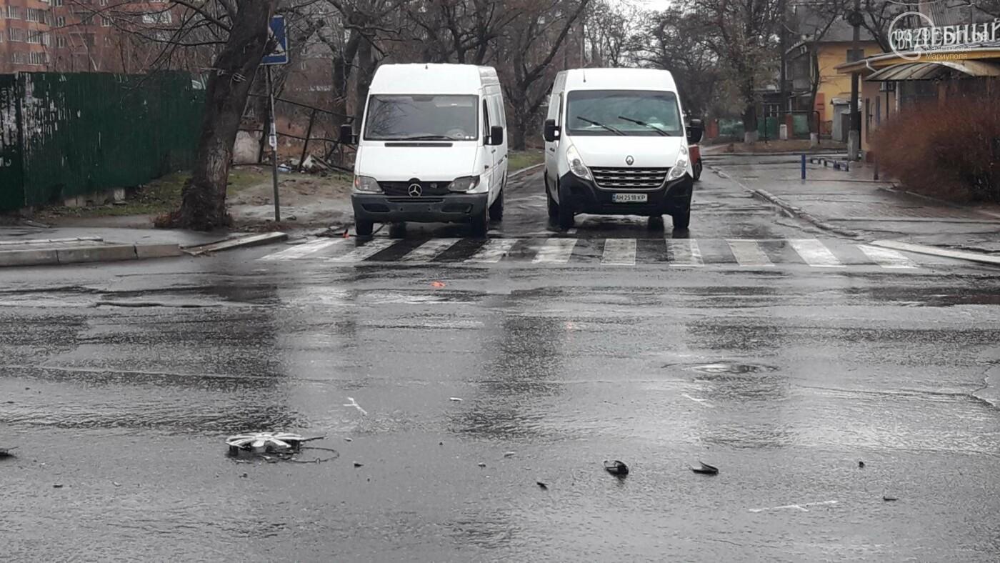 В Мариуполе тройное ДТП спровоцировало затор, - ФОТО, фото-6
