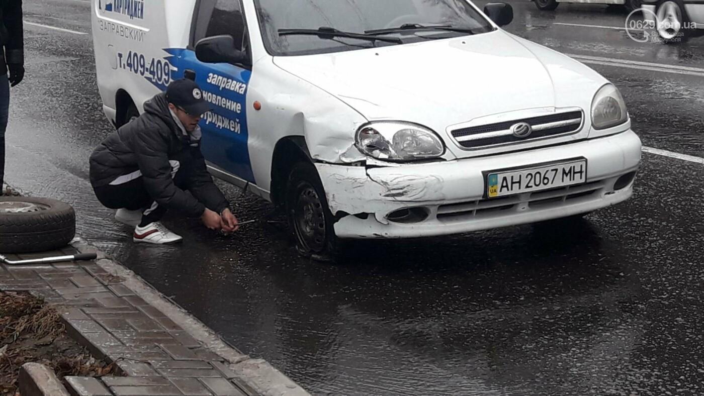 В Мариуполе тройное ДТП спровоцировало затор, - ФОТО, фото-1