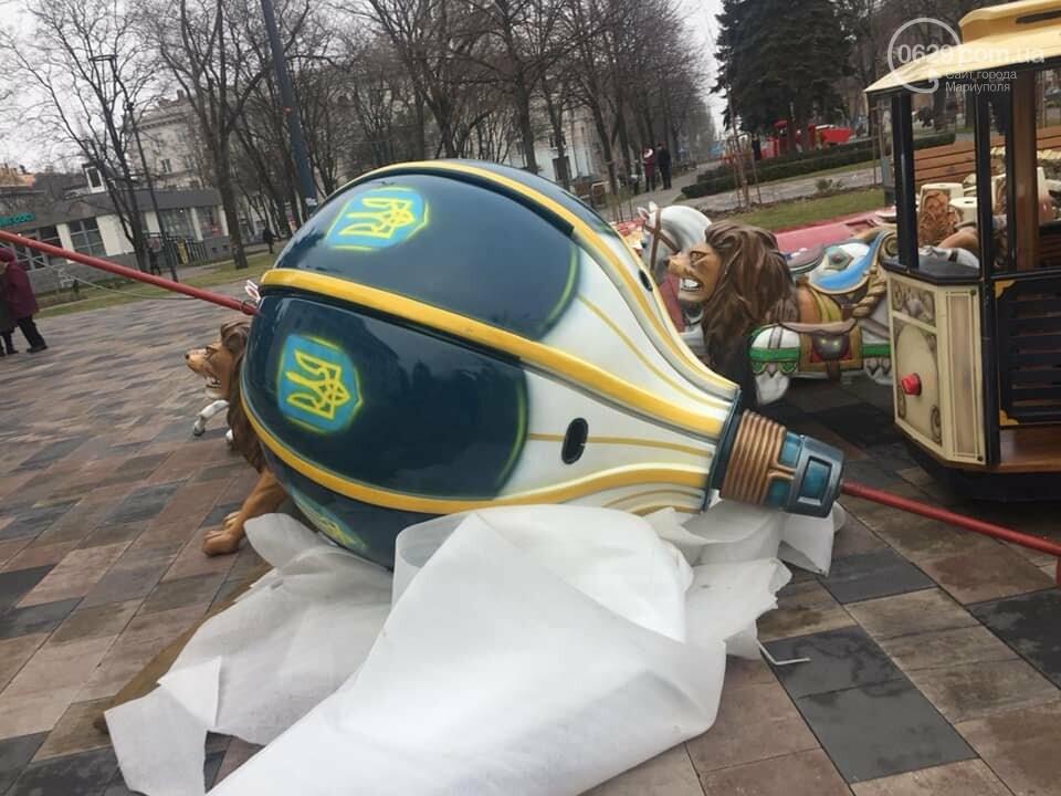 В Мариуполе устанавливают карусель с национальной символикой,- ФОТО, фото-4